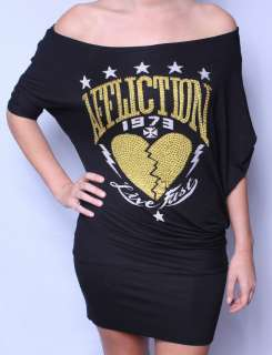AFFLICTION WOMENS LIKE A PRAYER BLACK DRESS S M L