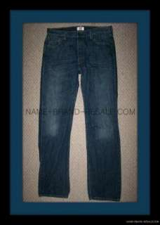 LEVIS 501 THE ORIGINAL STRAIGHT LEG BUTTON FLY JEANS MENS 36x36