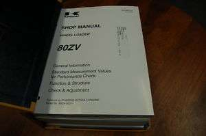 NEW Kawasaki 80Z V Wheel Loader Shop Manual
