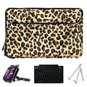 SumacLife Brown Leopard Print Design Covered Neoprene