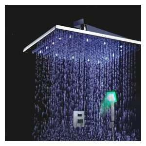 Single Handle Chrome Wall mount LED Shower Facuet (Without