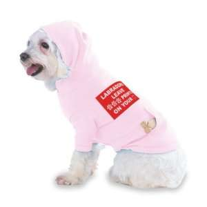 LABRADORS LEAVE PAW PRINTS ON YOUR HEART Hooded (Hoody) T