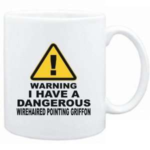 Mug White  WARNING  DANGEROUS Wirehaired Pointing