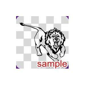 ANIMALS LION ANGRY 10 WHITE VINYL DECAL STICKER
