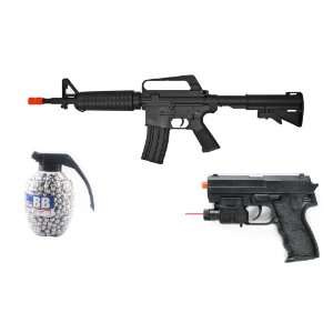 WELL M16 Electric 200 FPS Full/Semi Automatic Airsoft Rifle