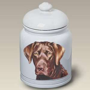 Chocolate Labrador Retriever Dog Cookie Jar by Barbara Van Vliet