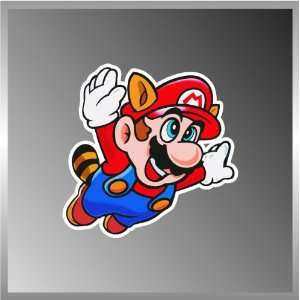 SUPER MARIO RACCOON VINYL DECAL BUMPER STICKER 4x4