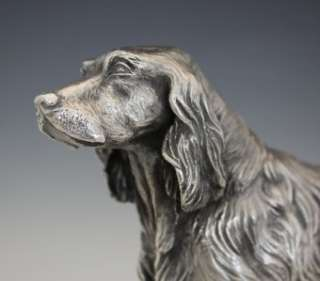 VINTAGE ITALIAN STERLING SILVER FIGURE OF ENGLISH SETTER DOG BY A