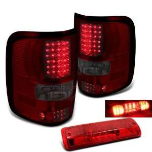 Eautolights 04 08 Ford F150 LED Tail Lights+LED 3Rd Red