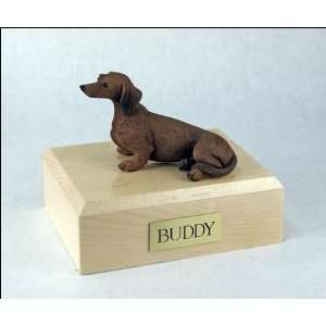1449 Dachshund, Red Dog Cremation Urn
