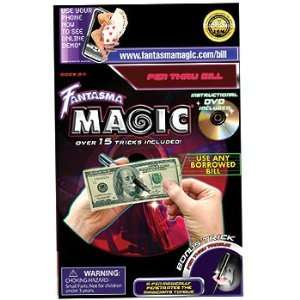 Pen Thru Dollar Bill / Pen Thru Tongue Magic Trick Toys & Games