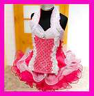New Girls Sparkling Glitz Pageant Dress Pink 8~10T