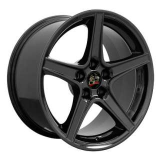 18 x 9 Black Saleen Wheels Rims Tires Fits Mustang®
