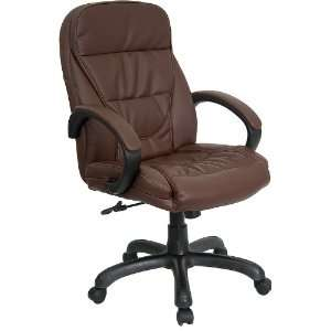 Mid Back, Chocolate Brown Glove Soft Leather Executive Swivel [UE CS