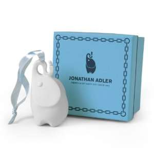 Adler White Christmas Tree Ornament Elephant & Peanut