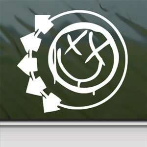 Blink 182 Logo White Sticker Car Laptop Vinyl Window White