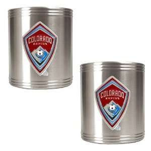 Colorado Rapids MLS 2pc Stainless Steel Can Holder Set   Primary Team