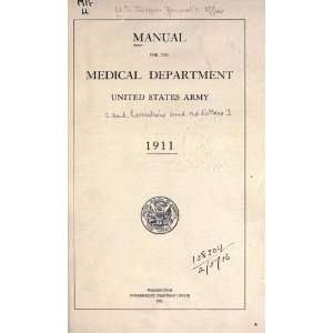 Manual For The Medical Department, United States Army And Corrections
