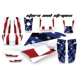 AMR Racing Yamaha Warrior 350 ATV Quad Graphic Kit  Stars and Stripes