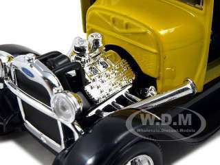 Brand new 124 scale diecast car model of 1929 Ford Model A Yellow die