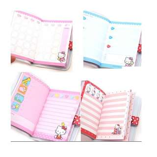 Cute Hello Kitty Button Up Cover Mini Diary with planners Choose one