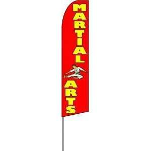 Martial Arts Extra Wide Swooper Feather Business Flag