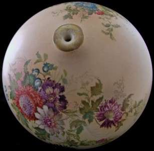 PORCELAIN VASE ART NOUVEAU HAND PAINTED AND GILDED FLORAL SPHERE