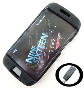 Mobile Black Hard Silicone Case Samsung Sidekick 4G + Free Car Charger