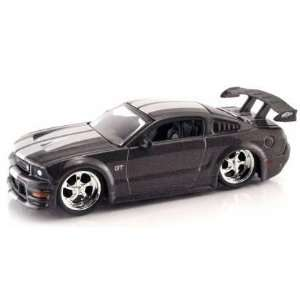 Dub City Grey 2005 Ford Mustang GT 164 Scale Die Cast Car Toys