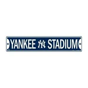 New York Yankees Yankee Stadium Metal Street Sign (24x5