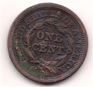HAIR LARGE COPPER PENNY   PRE CIVIL WAR COIN  HIGH GRADE   L@@K