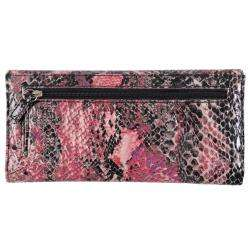 Kenneth Cole Reaction Womens Snake Print Slim Clutch
