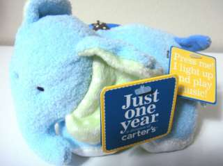 NWT JUST ONE YEAR CARTERS ELEPHANT PLUSH BABY TOY