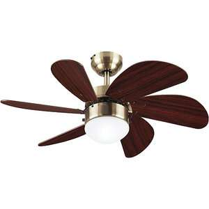 Westinghouse 30 Turbo Swirl Ceiling Fan/Lamp, Antique Brass Decor