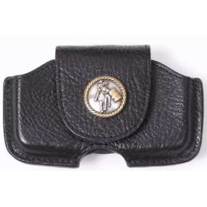 Leather Cell Phone Case with Barrel Racer Concho