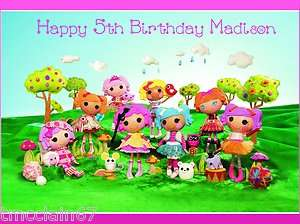 Lalaloopsy edible cake image topper  1/4 sheet