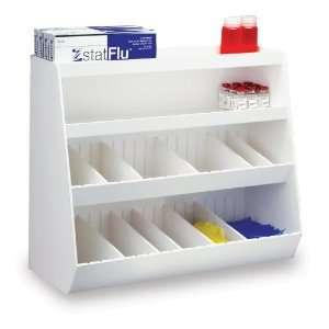TrippNT 50028 White PVC Plastic Suture Shelf with 14 Adjustable
