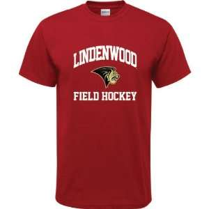 Lions Cardinal Red Youth Field Hockey Arch T Shirt