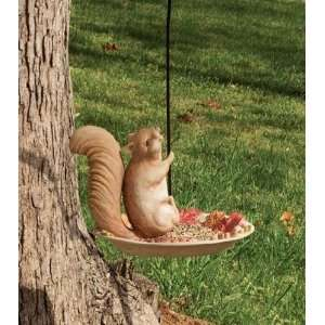 Squirrel Portly Hanging Bird Feeder Patio, Lawn & Garden