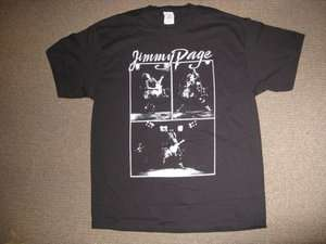 LED ZEPPELIN   JIMMY PAGE T SHIRT EXTREMELY RARE VINTAGE PRINTED