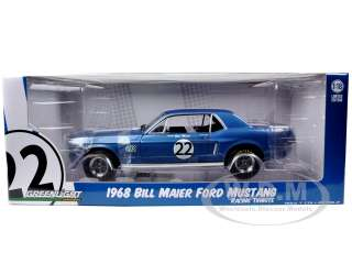 18 scale diecast model car of 1968 Ford Mustang T/A #22 Bill Maier