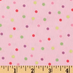 44 Wide Happy Flowers Dots Pink Fabric By The Yard Arts