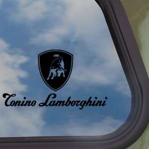 Lamborghini Black Decal Logo Bull Car Truck Window Sticker