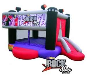 NEW ROCK STAR INFLATABLE BOUNCE HOUSE Bouncer Slide