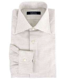 Basile Blu Mens Horizontal Stripe Dress Shirt