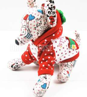 Red Strawberry Dog Halloween Costume Coat Clothes AnySZ