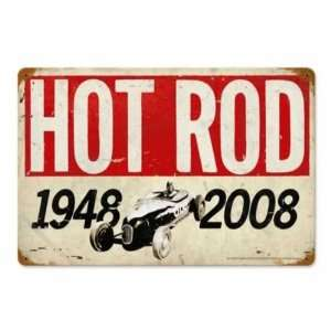 60th Anniversary Vintage Metal Sign Hot Rod Magazine