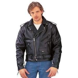 Classic Leather Motorcycle Jacket Highway Hawks Sports