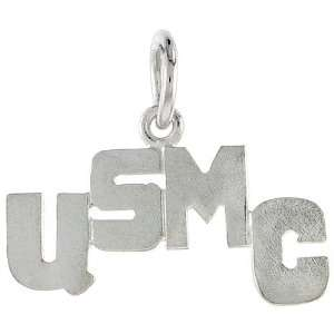 United States Marine Corps Talking Pendant (w/ 18 Silver Chain), 7/8