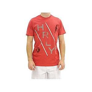 Hurley Time Table Premium Tee (Heather Red) Medium